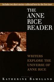 Cover of: The Anne Rice reader | edited by Katherine Ramsland.