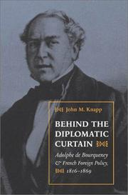 Cover of: Behind the diplomatic curtain