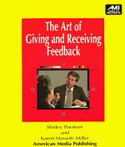 Cover of: The art of giving and receiving feedback