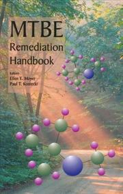 Cover of: MTBE remediation handbook