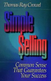 Cover of: Simple selling | Thomas Ray Crowel