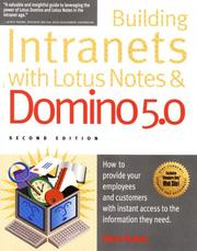 Cover of: Building intranets with Lotus Notes & Domino 5.0 | Krantz, Steve