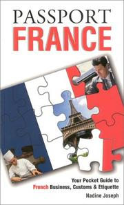 Cover of: Passport France