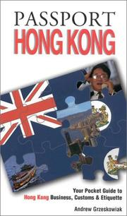 Cover of: Passport Hong Kong