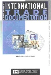 Cover of: A Short Course in International Trade Documentation | Edward G. Hinkelman