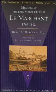 Cover of: Memoirs of the Late Major General Le Marchant | Le Marchant, Denis Sir