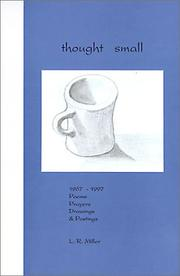 Cover of: Thought small: 1967-1997 poems, prayers, drawings & postings