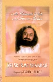 Cover of: An Intimate Note to the Sincere Seeker; Volume 3 | Ravi Shankar