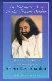 Cover of: An Intimate Note to the Sincere Seeker; Volume 4: July 30, 1998 to July 28, 1999 | Ravi Shankar