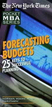 Cover of: Forecasting Budgets  |