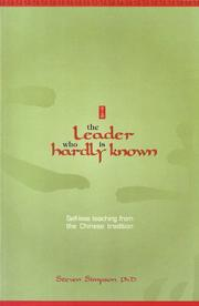Cover of: The Leader Who Is Hardly Known | Steven Simpson