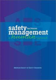Cover of: Safety management