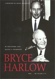 Cover of: Bryce Harlow | Bob Burke
