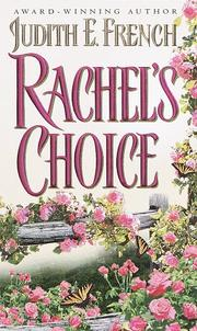 Cover of: Rachel's Choice