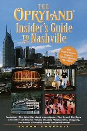 Cover of: The Opryland insider's guide to Nashville