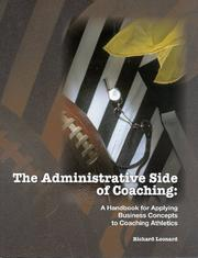 Cover of: The Administrative Side of Coaching