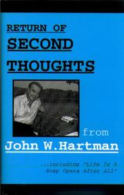 Cover of: Return of second thoughts