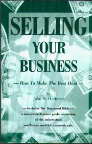 Cover of: Selling your business