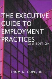 Cover of: Executive guide to employment practices