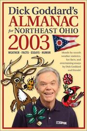 Cover of: Dick Goddard's Almanac for Northeast Ohio 2003 (Dick Goddard's Almanac for Northeast Ohio) | Dick Goddard