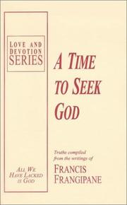 Cover of: A Time to Seek God