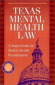 Cover of: Texas Mental Health Law | Hays