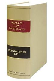 Cover of: Black's Law Dictionary, Reprinted