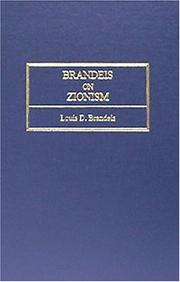 Cover of: Brandeis on Zionism