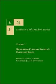 Cover of: Emf: Studies in Early Modern France : Rethinking Cultural Studies 2  |