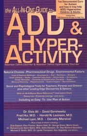 Cover of: The All-in-One Guide to ADD & Hyperactivity (Attention Deficit Disorder) | Dr. Elvis Ali