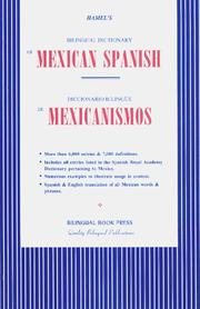 Cover of: Hamel's Bilingual Dictionary of Mexican Spanish
