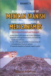 Cover of: Bilingual Dictionary of Mexican Spanish