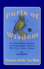 Cover of: Purls of wisdom | Don Hansler