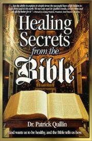 Cover of: Healing secrets from the Bible