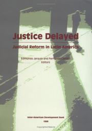 Cover of: Justice Delayed | Edmundo JarquГ­n