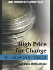 Cover of: High price for change