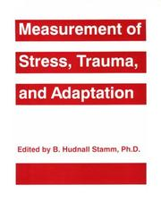 Cover of: Measurement of stress, trauma, and adaptation |