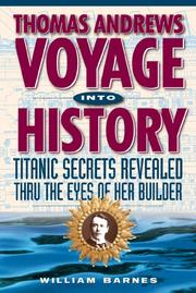 Cover of: Thomas Andrews, voyage into history