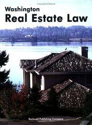 Cover of: Washington real estate law