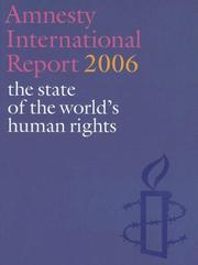Cover of: Amnesty International Report 2006 |