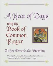 Cover of: year of days with the Book of common prayer | Edmond Lee Browning