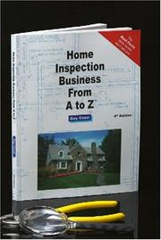 Cover of: Home inspection business from A to Z | Guy Cozzi