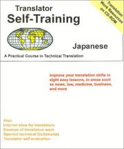 Cover of: Translator Self-Training--Japanese | Morry Sofer
