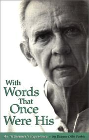Cover of: With words that once were his | Dianne Dibb Forbis