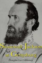 Cover of: Stonewall Jackson at Gettysburg