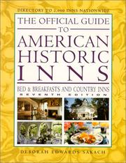 Cover of: The Official Guide to American Historic Inns