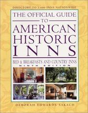 Cover of: The Official Guide to American Historic Inns, Ninth Edition (Official Guide to American Historic Inns: Bed & Breakfasts & Country Inns)