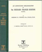 Cover of: An Annotated Bibliography of Sir Richard Francis Burton