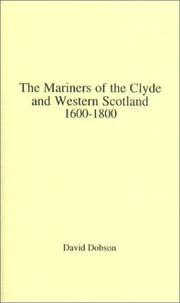 Cover of: The mariners of the Clyde and western Scotland, 1600-1800