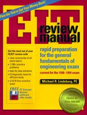 Cover of: Eit Review Manual: Rapid Preparation for the General Fundamentals of Engineering Exam